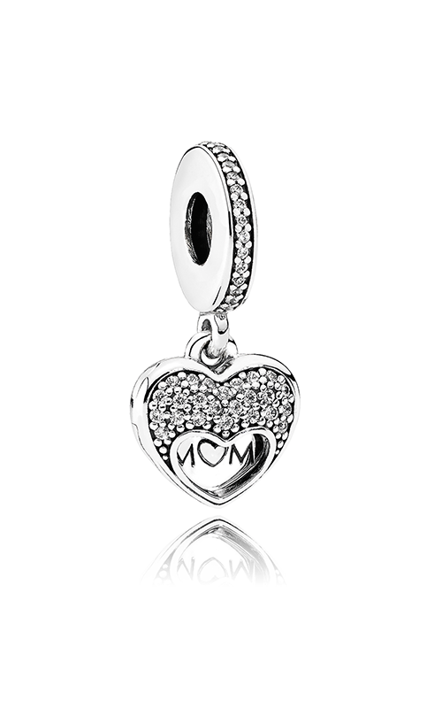 PANDORA Mother's Day I Love My Mom, Clear CZ Charm 792071CZ product image