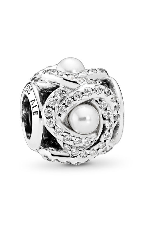 Pandora Luminous Love Knot White Crystal Pearl & Clear CZ Charm 792105WCP product image