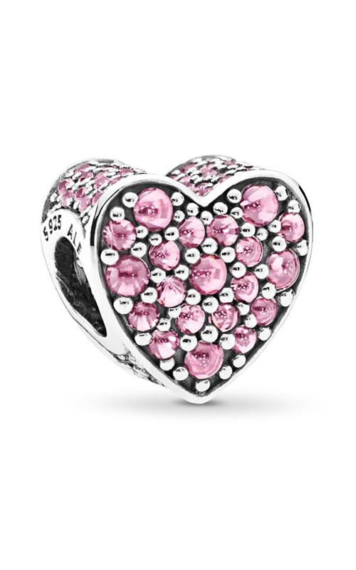 Pandora Pink Dazzling Heart Charm Pink CZ 792069PCZ product image