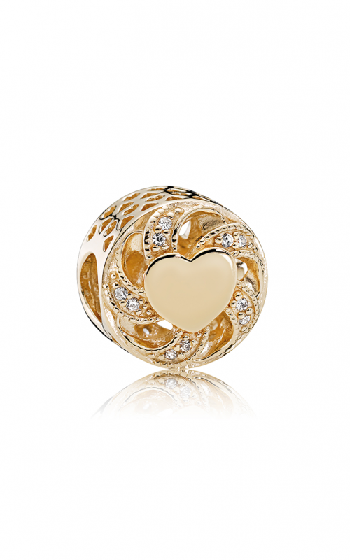 PANDORA Mother's Day Ribbon Heart Clear CZ Charm 751004CZ (Retired) product image