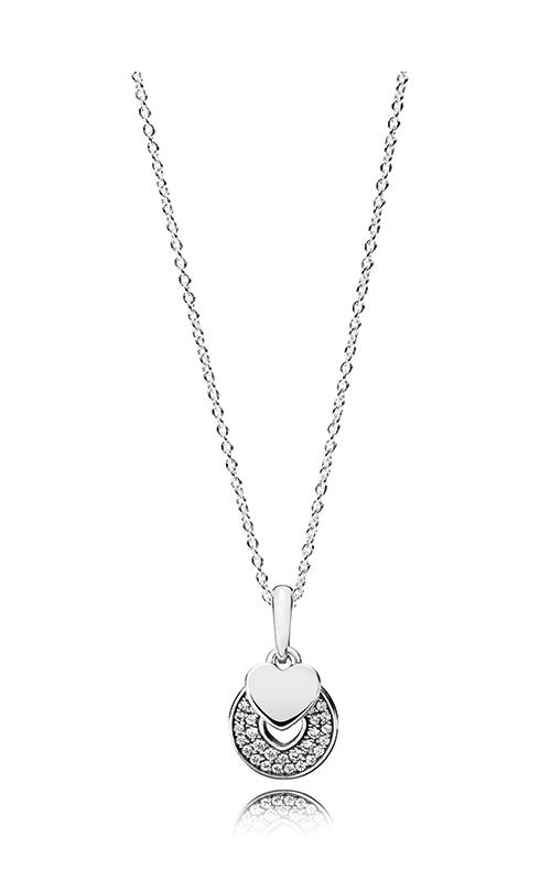 Pandora Women Silver Pendant Necklace - 396375CZ-70 Fmq3Xlhe