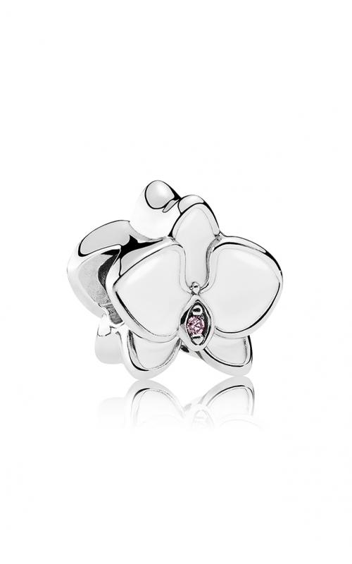 PANDORA Orchid Charm White Enamel & Orchid CZ 792074EN12 product image