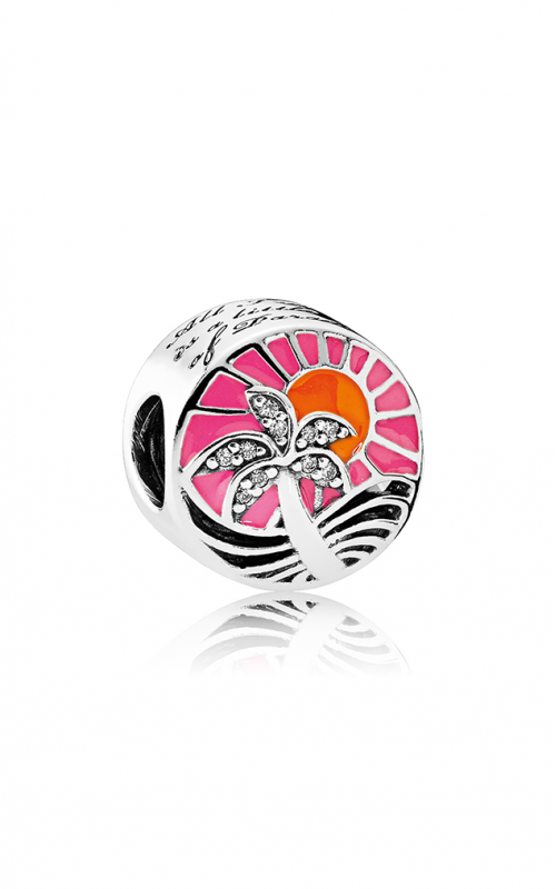Pandora Tropical Sunset Charm Mixed Enamel & Clear CZ 792116ENMX product image