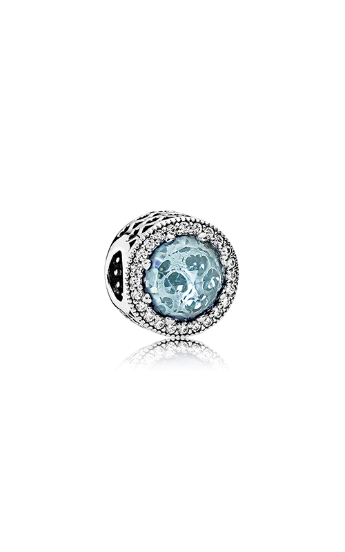 Pandora Radiant Hearts Charm Glacier-Blue Crystals & Clear CZ 791725NGL product image