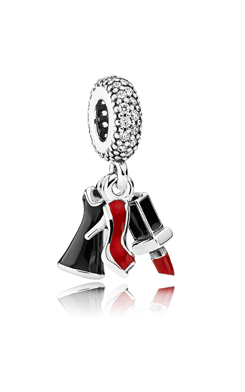 PANDORA Glamour Trio Dangle Charm, Mixed Enamel & Clear CZ 792156ENMX product image