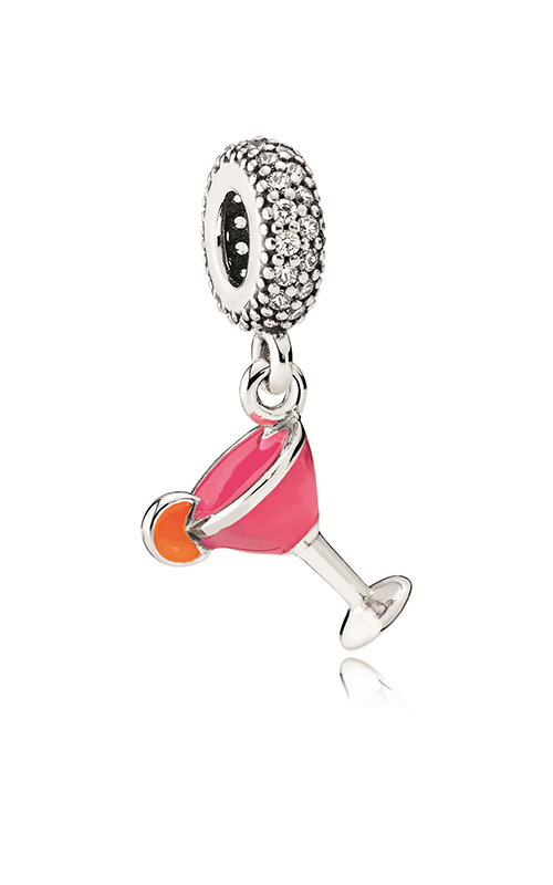 PANDORA Fruity Cocktail Dangle Charm Mixed Enamel & Clear CZ 792153ENMX product image