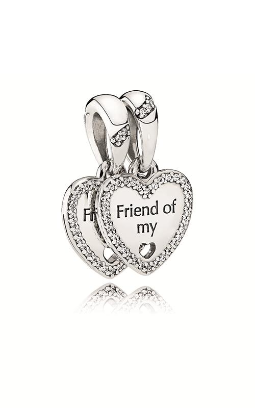PANDORA Hearts of Friendship Dangle Charm Clear CZ 792147CZ product image