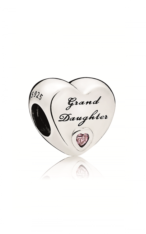 PANDORA Granddaughter's Love Charm Pink CZ 796261PCZ product image