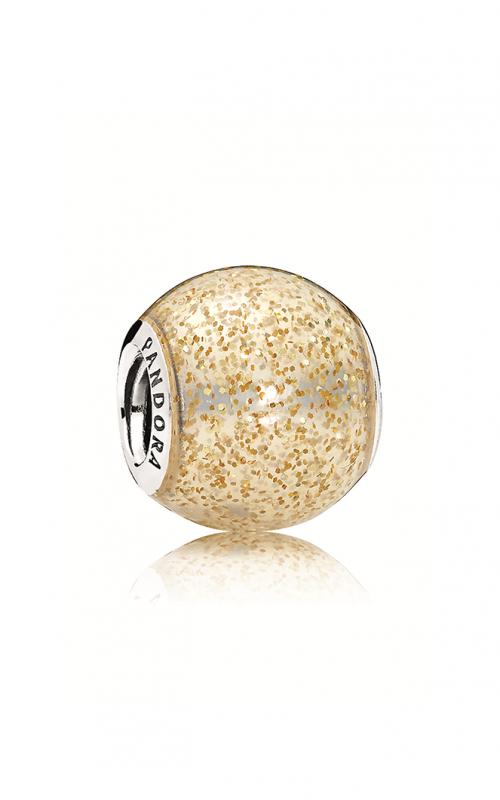 PANDORA Glitter Ball Charm Golden Glitter Enamel 796327EN146 product image