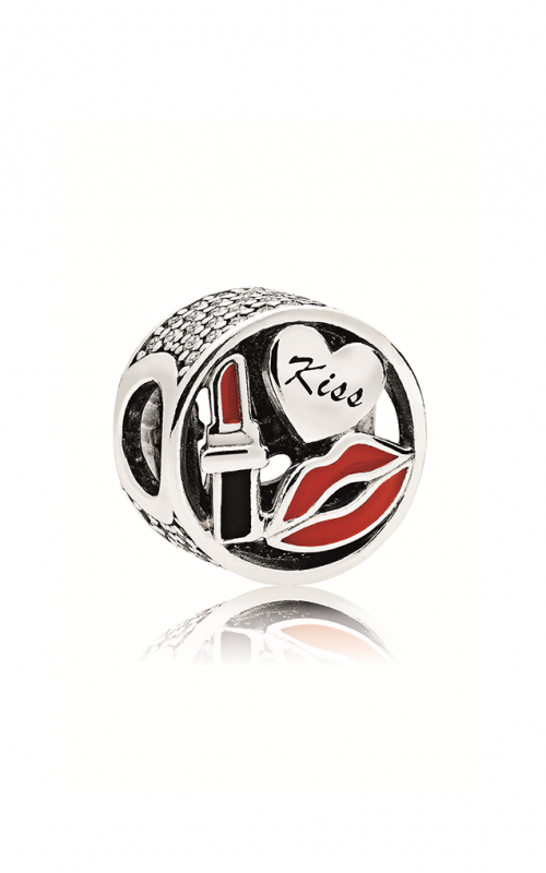 PANDORA Glamour Kiss Charm, Mixed Enamel & Clear CZ 796324ENMX product image