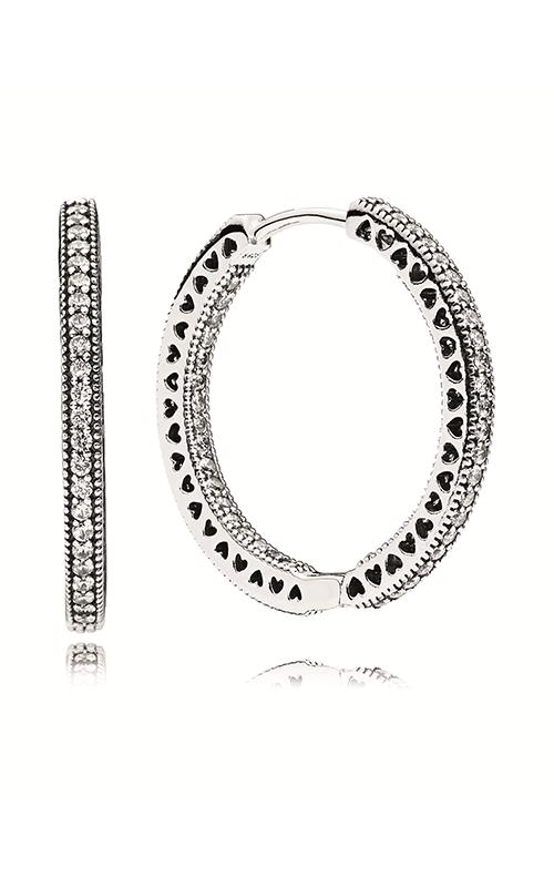 Pandora Hoop Earrings Clear CZ 296319CZ product image