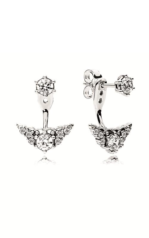 PANDORA Fairytale Tiara Stud Earrings Clear CZ 296228CZ product image