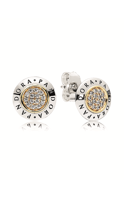 PANDORA Signature Stud Earrings Clear CZ 296230CZ product image