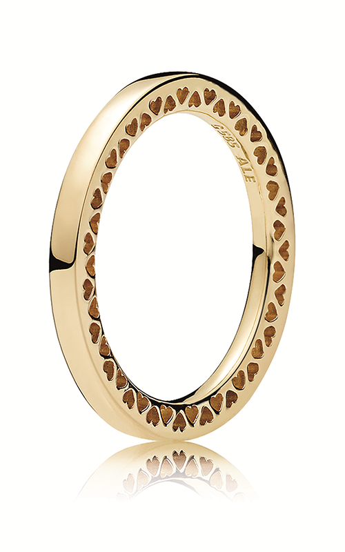 PANDORA Classic Hearts Ring, 14K Gold 156238-56 product image