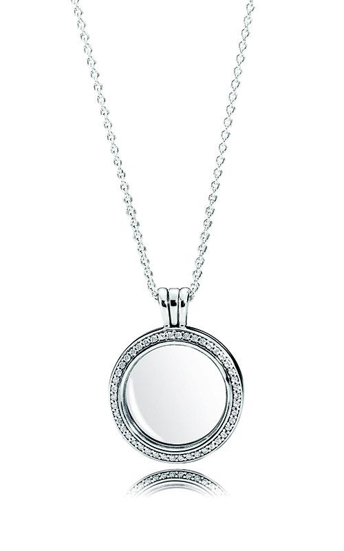 a8003ad8a PANDORA Locket Medium Sapphire Crystal Glass & Clear CZ Necklace  396484CZ-60 product image