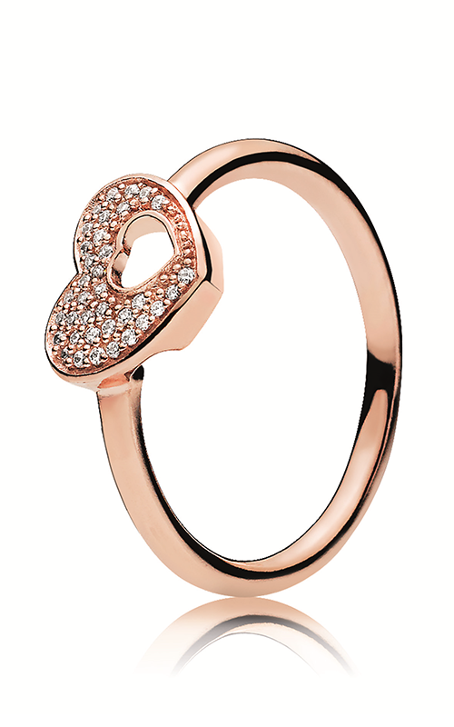 3b5d3cfd1 PANDORA Rose™ & Clear CZ, Shimmering Puzzle Heart Frame Ring 186550CZ-48  product