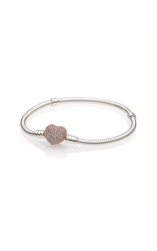 Pandora Rose™ Pavé Heart Clasp with Pandora Sterling Silver Bracelet  586292CZ-16