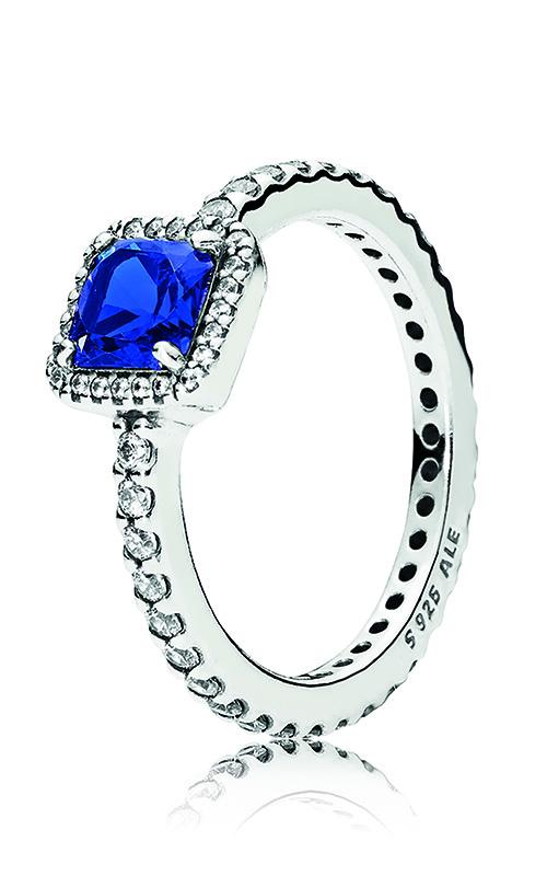 PANDORA Timeless Elegance, True Blue Crystal & Clear CZ 190947NBT-56 product image