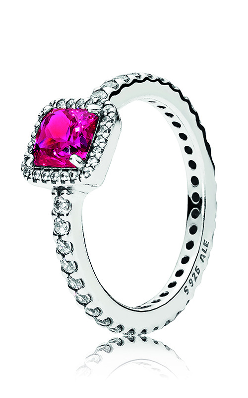 PANDORA Timeless Elegance, Synthetic Ruby & Clear CZ 190947SRU-56 product image