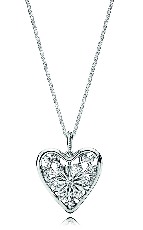 5a76b7990 PANDORA Heart of Winter Necklace, Clear CZ 396369CZ-80 product image