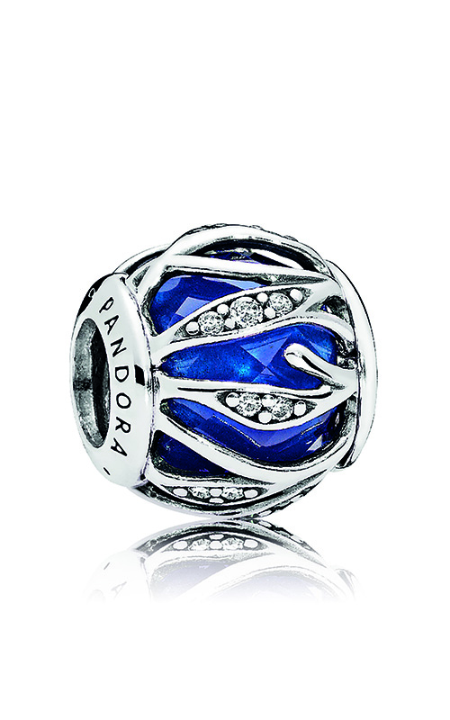 Pandora Nature's Radiance Charm, Royal Blue Crystal & Clear CZ 791969NCB product image
