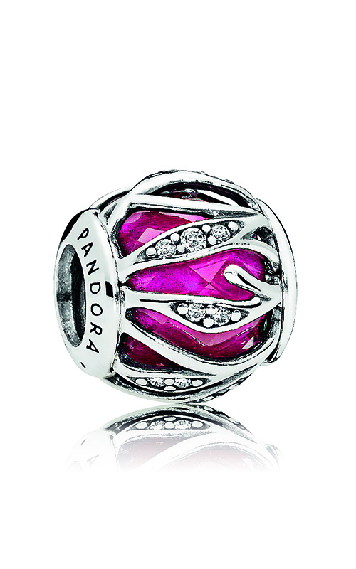 PANDORA Nature's Radiance Charm, Synthetic Ruby & Clear CZ 791969SRU product image
