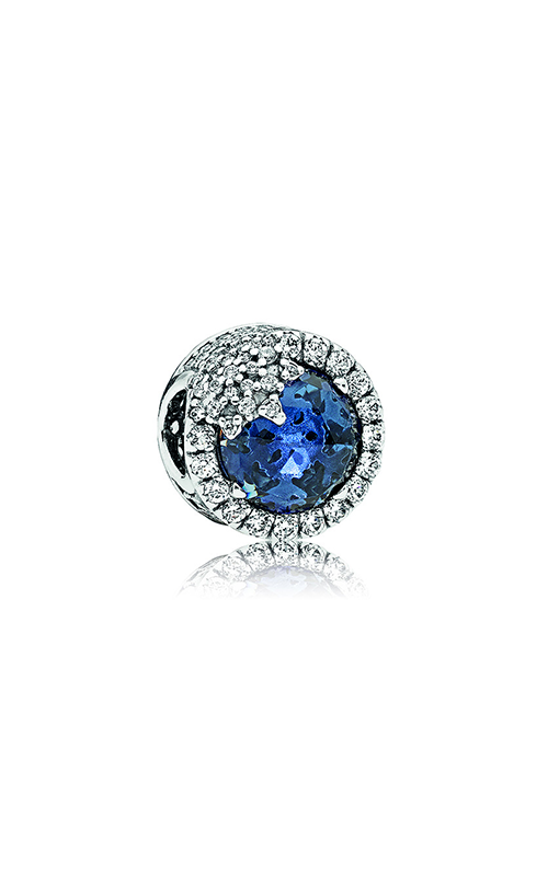 PANDORA Dazzling Snowflake Charm, Twilight Blue Crystals & Clear CZ 796358NTB product image