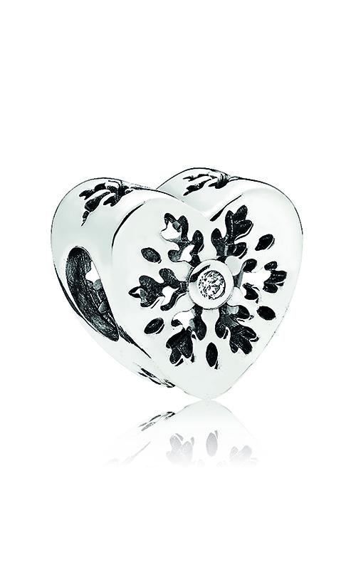 Pandora Snowflake Heart Charm, Clear CZ 796359CZ product image