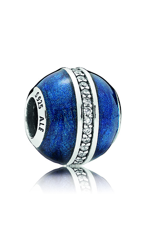 PANDORA Orbit Charm, Midnight Blue Enamel & Clear CZ 796377EN63 product image