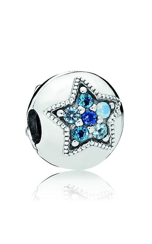 PANDORA Bright Star Clip, Multi-Colored Crystals 796380NSBMX product image