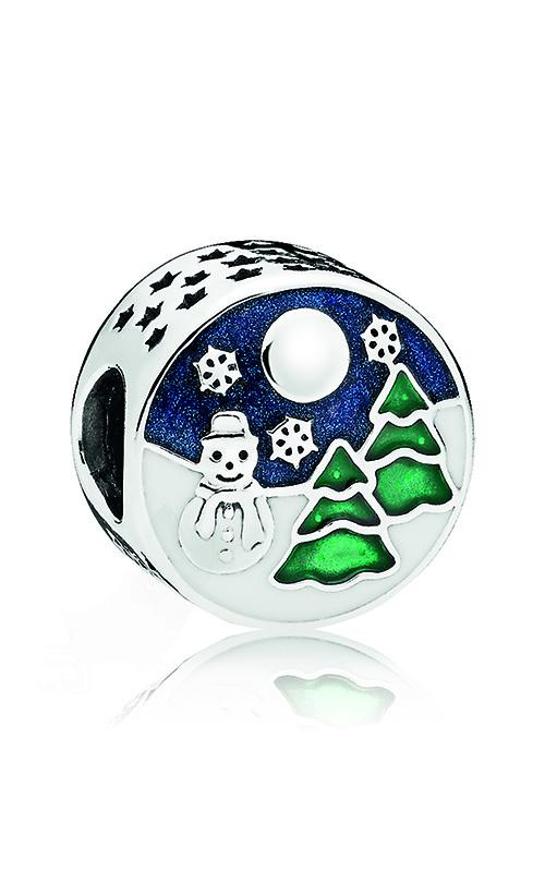 PANDORA Snowy Wonderland Charm, Blue & Green Enamel 796384ENMX product image