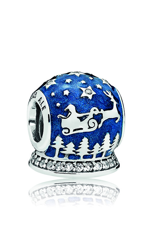 PANDORA Christmas Night Charm, Midnight Blue Enamel & Clear CZ 796386EN63 product image