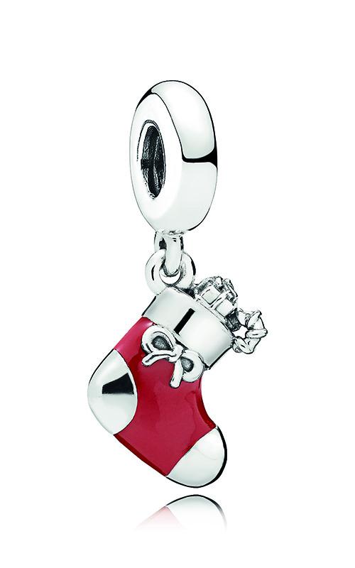 PANDORA Festive Stocking Dangle Charm, Berry Red Enamel 796387EN39 product image