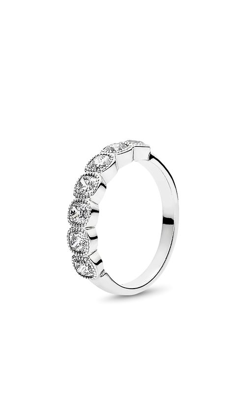 PANDORA Alluring Cushion Ring Clear CZ 191019CZ-48 product image
