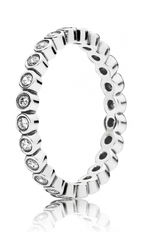 PANDORA Alluring Petite Brilliant Stackable Ring Clear CZ 190941CZ-48 product image
