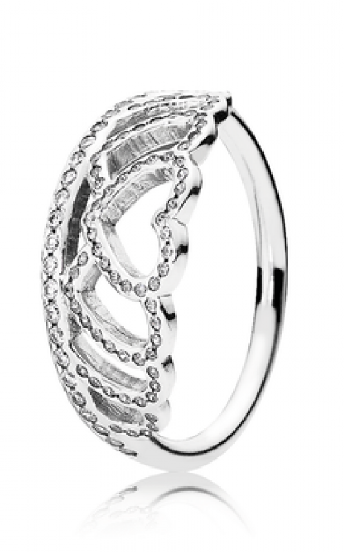 ce2a4cd2b PANDORA Hearts Tiara Ring Clear CZ 190958CZ-48 product image
