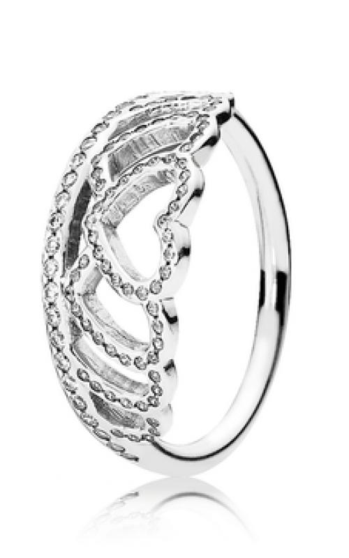 PANDORA Hearts Tiara Ring Clear CZ 190958CZ-60 product image