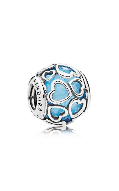 PANDORA Encased in Love Charm Sky Blue Crystal 792036NBS product image