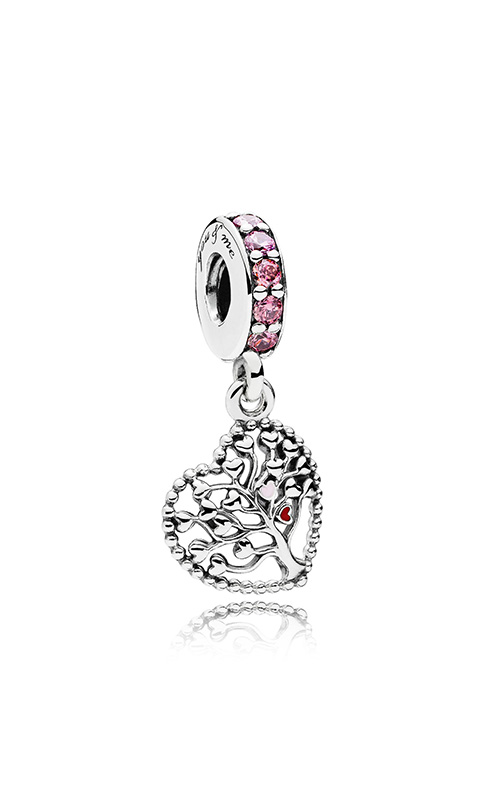 PANDORA Tree of Love Dangle Charm Mixed Enamel & Multi-Colored CZ 796592CZSMX product image