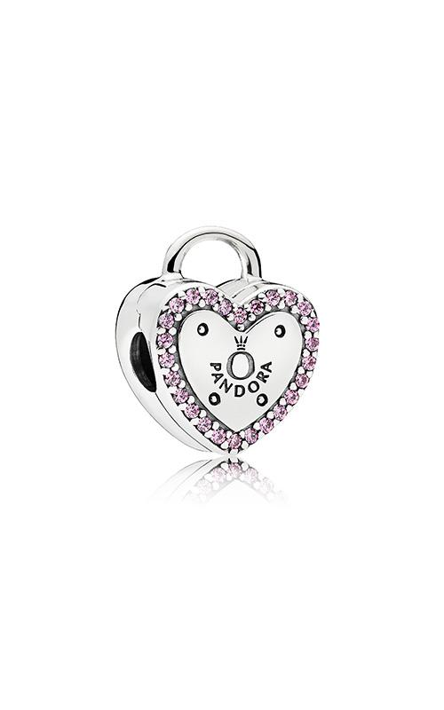 PANDORA Lock Your Promise Clip Fancy Fuchsia Pink CZ 796556FPC product image