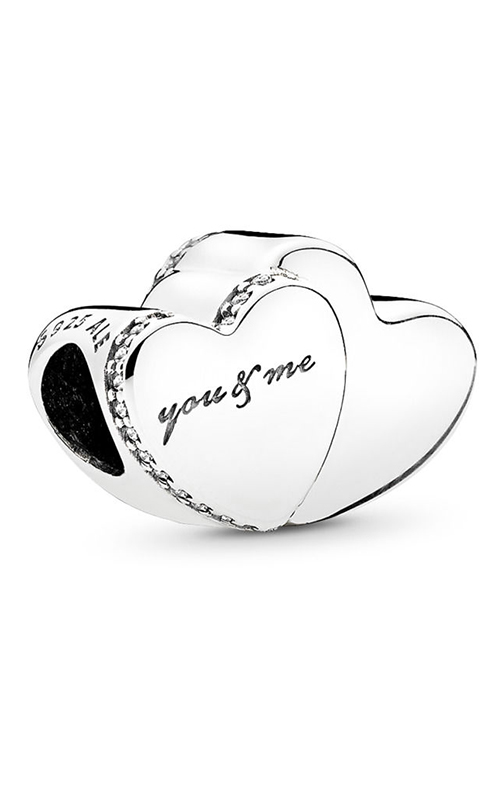 Pandora Two Hearts Charm Clear CZ 796560CZ product image