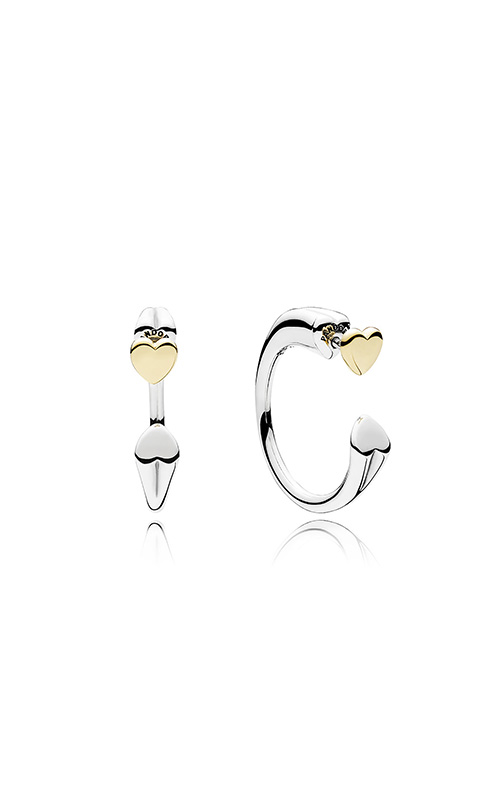 PANDORA Two Hearts Hoop Earrings 296576 product image