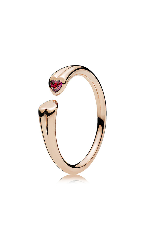 fa279b4020be4 PANDORA Rose™ & Red CZ Two Hearts Ring 186570CZR-48
