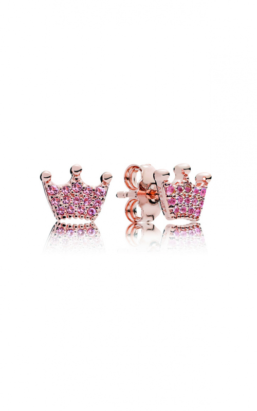 Pandora Rose™ & Pink Crystals Enchanted Crowns Stud Earrings 287127NPO product image