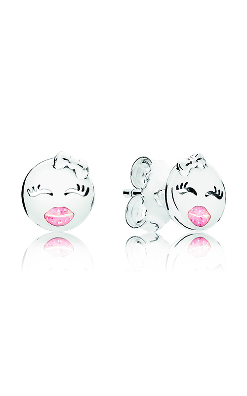 PANDORA Playful Winks Stud Earrings, Light Pink Enamel 297102EN161 product image