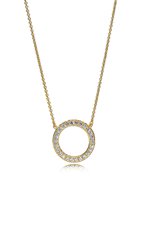 PANDORA Shine™ & Clear CZ Hearts Necklace 367121CZ -45 product image
