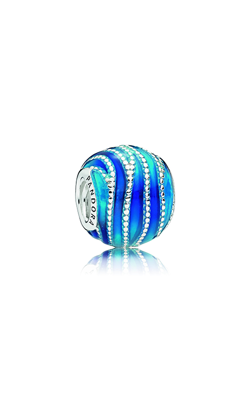 PANDORA Blue Swirls Charm, Mixed Enamel 797012ENMX product image