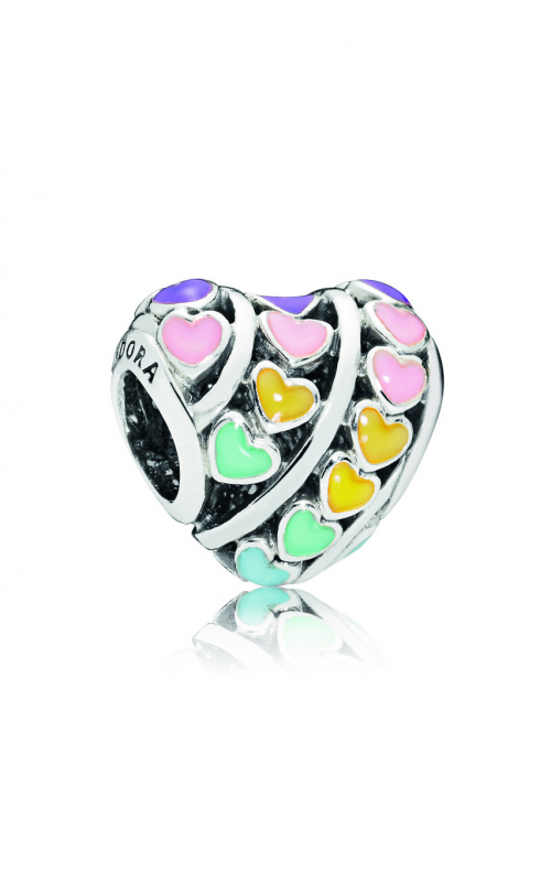 PANDORA Multi-Color Hearts Charm, Mixed Enamel 797019ENMX product image