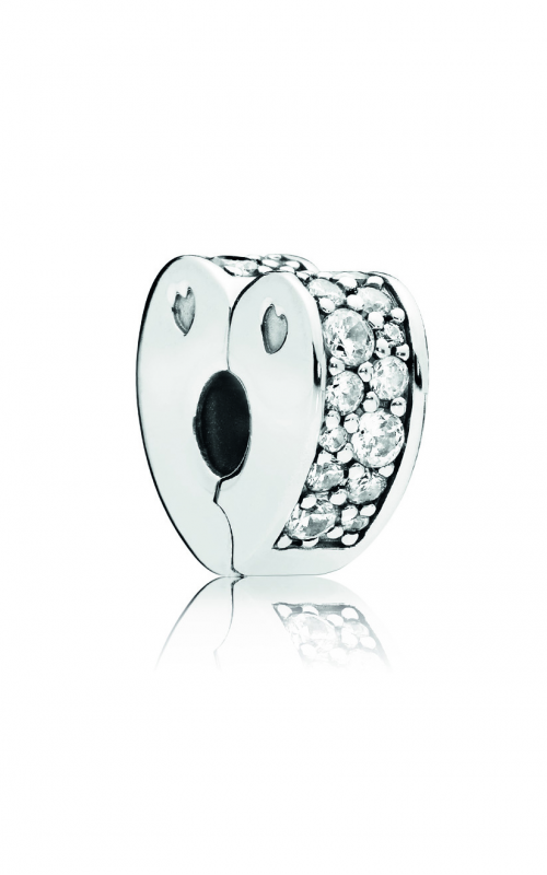 Pandora Sparkling Arcs of Love Clip, Clear CZ 797020CZ product image