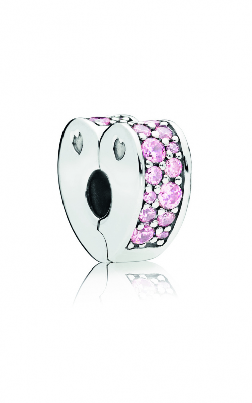 PANDORA Pink Arcs of Love Clip, Pink CZ 797020PCZ product image